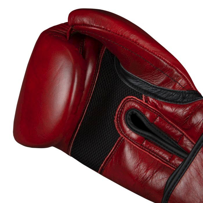 Перчатки TITLE Blood Red Leather Sparring Gloves